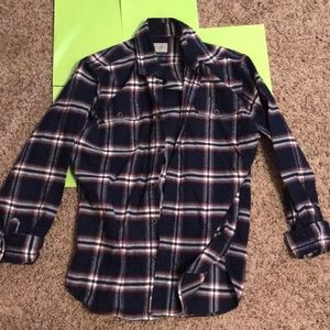 Jachs Shirts - Men's Red and Navy Flannel